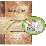 Scratchy Planet Travel Journal – Diario di viaggio per appunti, incluse 8 mappe del mondo da grattare, Diario di viaggio con mappe del mondo da grattare