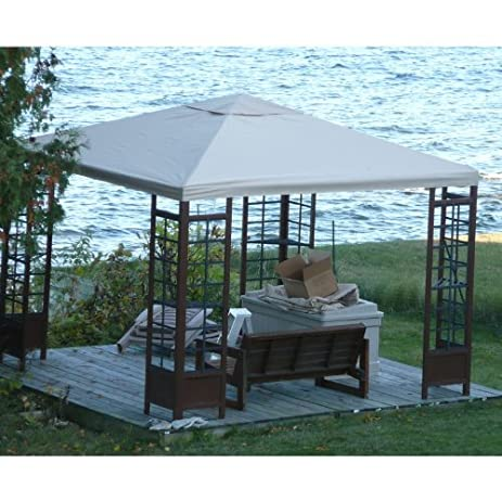 Adagio Wood Gazebo Replacement Canopy Top Cover - RipLock 350  sc 1 st  Amazon.com & Amazon.com : Adagio Wood Gazebo Replacement Canopy Top Cover ...