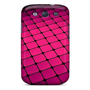 BkmqEIL4565kSnBT Anti-scratch Case Cover WilliamMorrisNelson Protective Pink Cubes Case For Galaxy S3