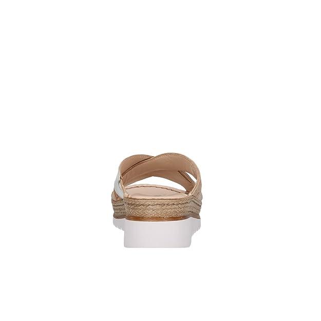 Slippers 019083zamazon Melluso Zapatillas con Walk Mujer It cuña beige Sandalias en dCEWrBexoQ