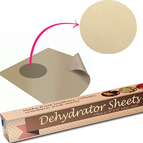 """Food Sheets - Set of 9 14"""" Non Teflon Dehydrators Cookie Dryer Sheets For 2900 Dehidrator Sheet By Chuzy Chef"""