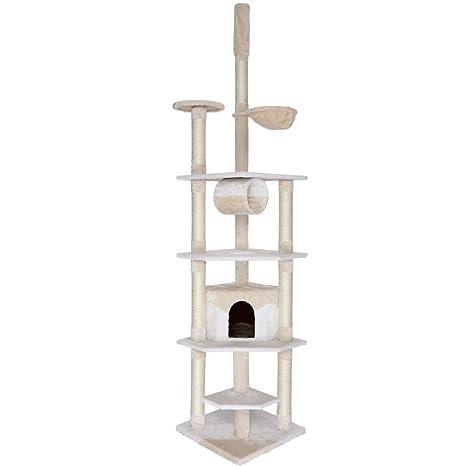 Dibea KB00424 Árbol Rascador Escalador para Gatos, 240-260 cm, Altura Ajustable del