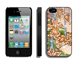 Featured Desin Christmas decorations Black iPhone 4 4S Case 1