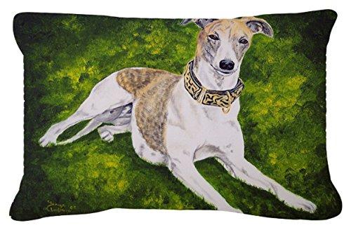 Caroline's Treasures Isabella Greyhound Fabric Decorative Pillow, 12