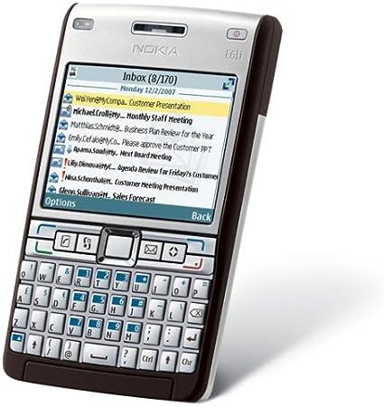 Nokia E61i - Smartphone Libre - Plata (QWERTZ alemán) [importado ...
