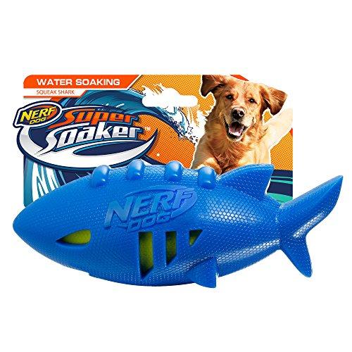 Nerf Dog 7in Shark Football: Blue, Dog Toy