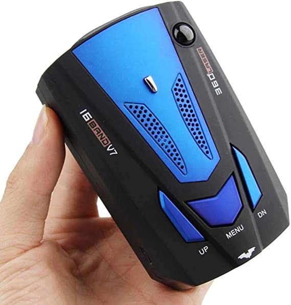 MASO New Car Speed Radar Detector with LED Display City/Highway Mode 360 Degrees Car Speed Alarm Voice Alert 16 Band