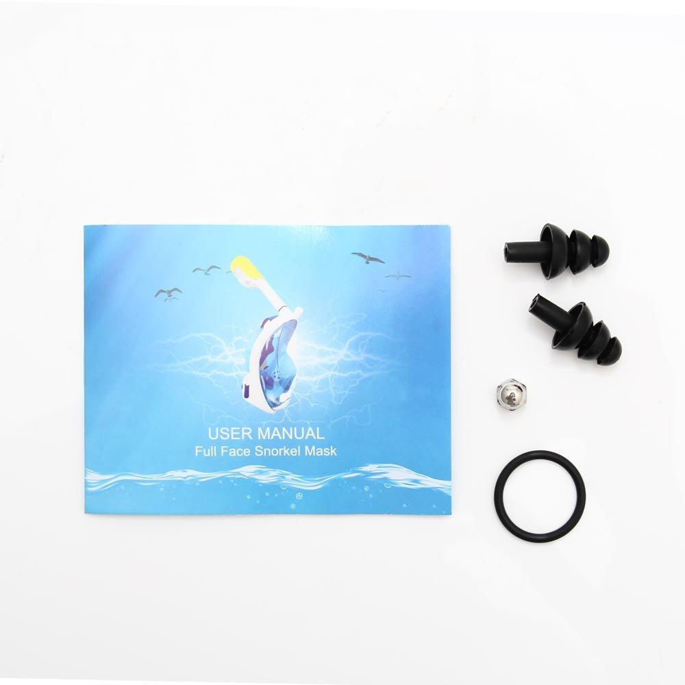 Amazon.com : Diving Mask Snorkel Swimming Training Scuba Mergulho Full Face Snorkeling Mask (blue, s) : Sports & Outdoors