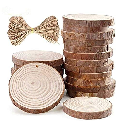 (Natural Wood Slices 20 Pcs 2.8