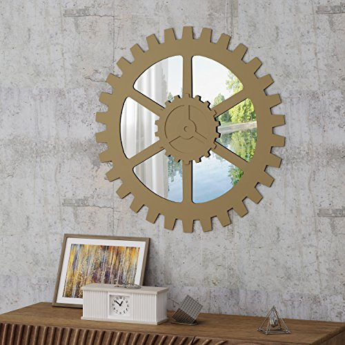 Christopher Knight Home 304539 Delmore Mirror, Champagne