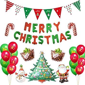 Die Perfekte Weihnachtsfeier.Thematys Weihnachts Luftballons Luftballon Set Mit Girlande