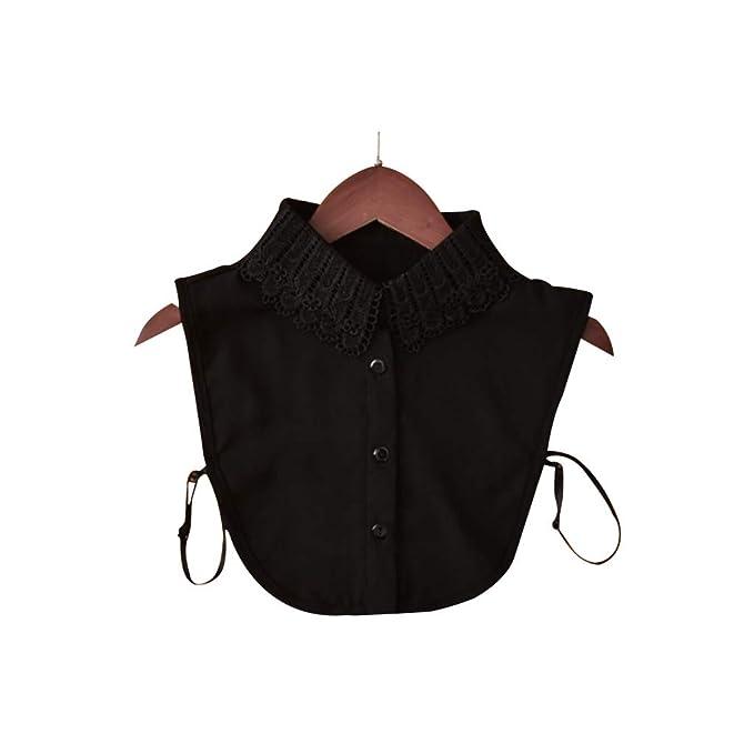 Blusenkragen Krageneinsatz Halbe Shirt Einsatz Abnehmbar Kragen Schwarz