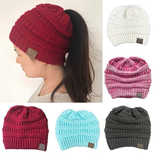 evelove Women Fashion Casual Crochet Knit Hats Skullies Beanie Hat Winter Warm Cap Skullies & Beanies