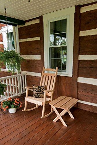 A & L Furniture 680C-UNFINISHED Classic Porch Rocker Chair, Unfinished