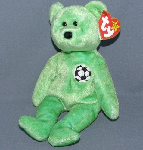 KICKS the Soccer Bear - Ty Beanie Babies (Kicks Babies Beanie)
