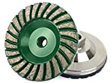 Z-Lion 4'' Diamond Grinding Cup Wheel Aluminum Backer 5/8-11 Thread for Marble Concrete Stone Sanding
