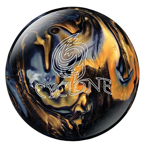 Ebonite Cyclone Bowling Ball, Black/Gold/Silver, (Ebonite Bowling Ball 10)