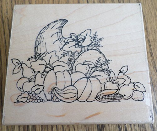 Ctmh Rubber Stamps - Jrl Design Bountiful Harvest R174 Ctmh Close To My Heart Wooden Rubber Stamp