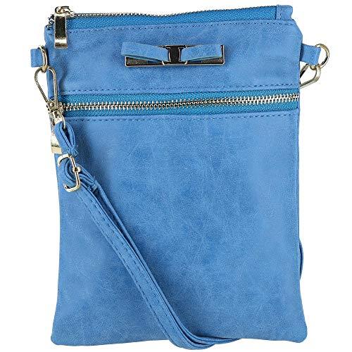 Urban Energy Women's Crossbody Bag with Bow, Blue by Urban Energy
