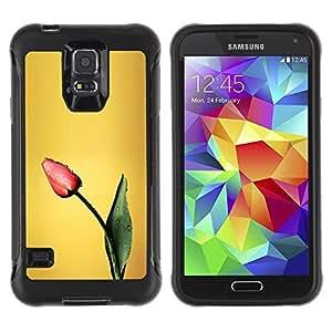 Suave TPU GEL Carcasa Funda Silicona Blando Estuche Caso de protección (para) Samsung Galaxy S5 V / CECELL Phone case / / Tulip Spring Painting Art Flower /