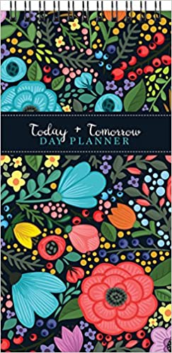 floral bloom nondated perpetual daily day planner