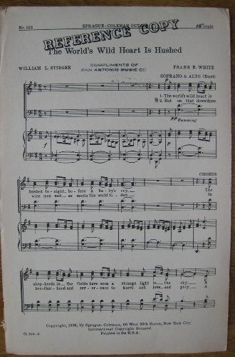 The World's Wild Heart Is Hushed (Sheet Music) (Soprano & Alto Duet)