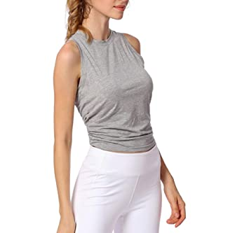 AMURAO Mujeres Deportes Fit Dry Tops Fitness Gimnasio ...