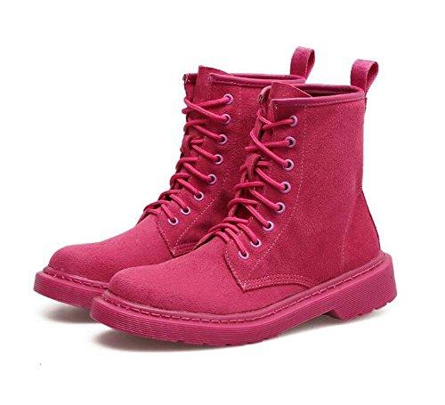 Pink Botas Seude Toe Corte Eu Chunkly Martin Libre Tamaño Ronda 41 Bootie Pure Mujeres 35 Al Color Botas 3cm Zapatos Locomotora Aire Botas Heel 0aTfqgY