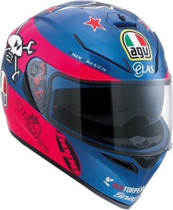 AGV K3 SV Guy Martin Full Face Helmet Blue/Pink/White XL