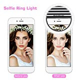 Ring Light for Camera [Rechargable Battery] Selfie LED Camera Light [36 LED] for iPhone iPad Sumsung Galaxy Photography Phones (Black)