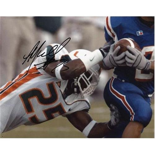 Alfonso Marshall Autographed Miami Hurricanes (White Jersey) 8x10 Photo