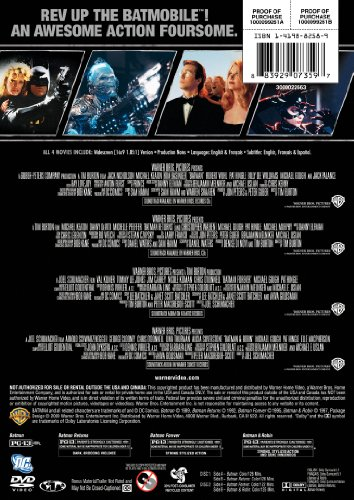 4 Film Favorites: Batman Collection (Batman / Batman Forever / Batman and Robin / Batman Returns)