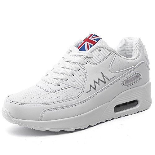 No.66 Donna Womens Air Casual Scarpe Da Passeggio Moda Sneaker # 955 Bianco