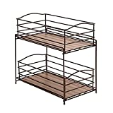 Seville Classics 2-Tier Sliding Basket Drawer Kitchen Counter and Cabinet Organizer, Bronze