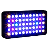 Roleadro Led 55x3w Dimmable 165w Full Spectrum LED Aquarium Light for Reef, Coral & Fish