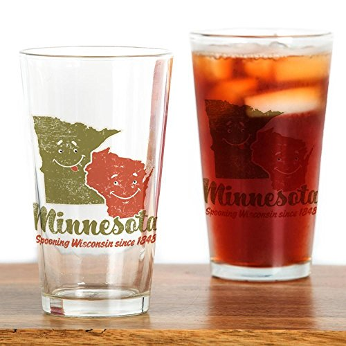 (CafePress Minnesota_Spooning_WI-02.Png Pint Glass, 16 oz. Drinking Glass)