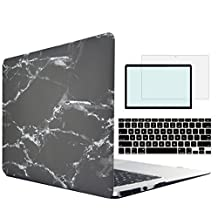 Tojia Macbook Pro 13 case,4 in 1 Plastic White Marble Hard Cover with Keyboard Skin Screen Protector for 13 inch Macbook Pro with CD/DVD Rom Model:A1278(Non Retina)