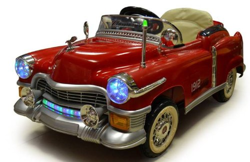 amazoncom kids ride on classic cadillac style power riding wheels rc remote control car colors sent at random burgundy or turquoise toys games