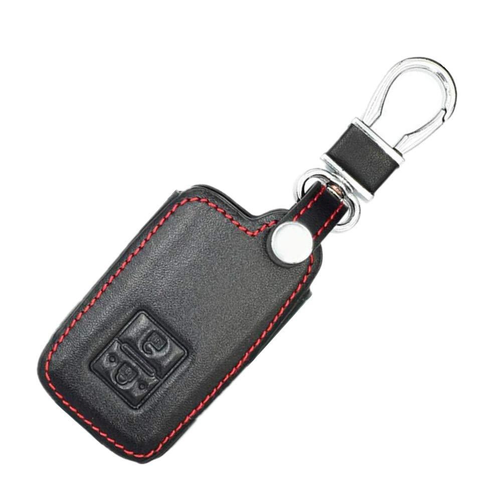 Happyit Cuir Cas de Cl/é de Voiture Couverture Porte-cl/és pour Toyota Auris Camry RAV4 Avalon Yaris Verso 2012-2019 2 Boutons