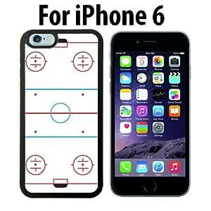 Ice Hockey Rink Custom Case/ Cover/Skin *NEW* Case for Apple iPhone 6 - Black - Rubber Case (Ships from CA) Custom Protective Case , Design Case-ATT Verizon T-mobile Sprint ,Friendly Packaging - Slim Case by icecream design