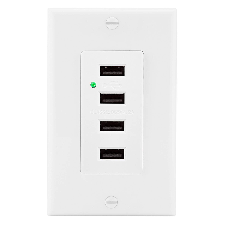 【爆買い!】 BESTTEN BESTTEN ライトスイッチ B01N0R2VRA 4 1_USB B01N0R2VRA Outlet 4 Horizontal 4.2A 1_USB Outlet 4 Horizontal 4.2A, 朝廷屋:58a42916 --- a0267596.xsph.ru