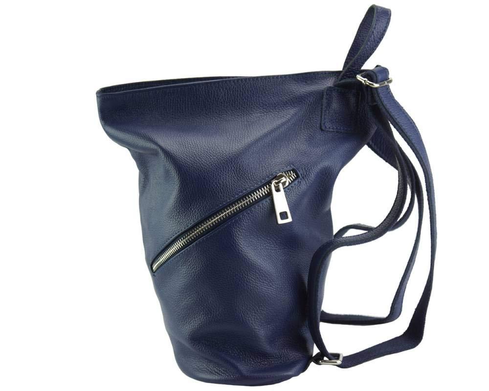 Clapton ryggsäck i smidigt litet kornigt läder – 9200 – läderväskor Mörkblått