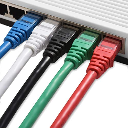 Cable Matters 5-Color Combo Snagless Cat6 Ethernet Cable (Cat6 Cable/Cat 6 Cable) 14 Feet - Available 1FT - 14FT in Length