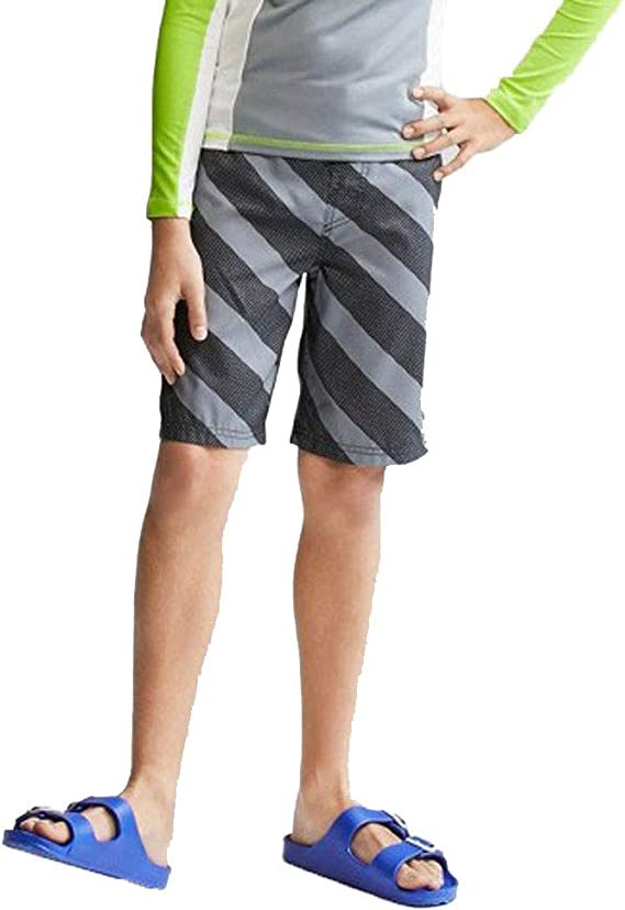 swimwear M 8//10 Cat /& Jack Boys Swim Trunk Shorts Blue Orange Striped UPF 50