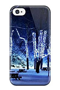 Maria Julia Pineiro's Shop Hot Iphone 4/4s Case Cover - Slim Fit Tpu Protector Shock Absorbent Case (attractive Christmas Lights) 3203162K19340364