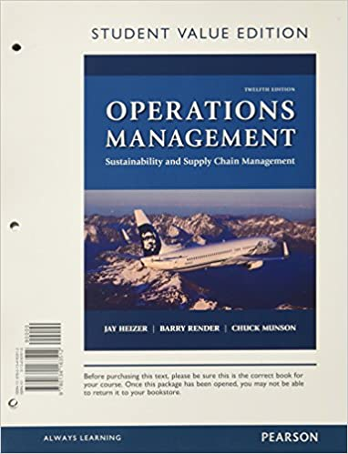 Operations management sustainability and supply chain management operations management sustainability and supply chain management student value edition 12th edition 12th edition fandeluxe