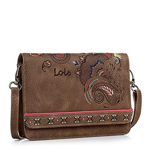 Lois, sac à bandoulière pour femme brune L