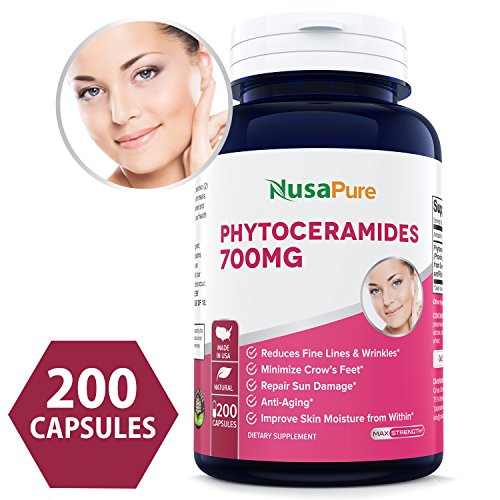 Phytoceramides 700mg 200 Capsules ✮ Non-GMO & Gluten Free Powerful Skin Repair & Rejuvenation ✮ All Natural Plant Derived Anti-Aging Powerhouse for Reduced Fine Lines & Wrinkles