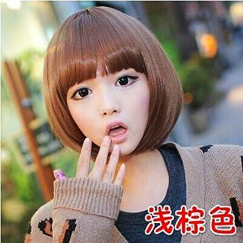 Amazon Com Qi Liu Girls Wig Hair Fluffy Cute Cool Wave Of Korean