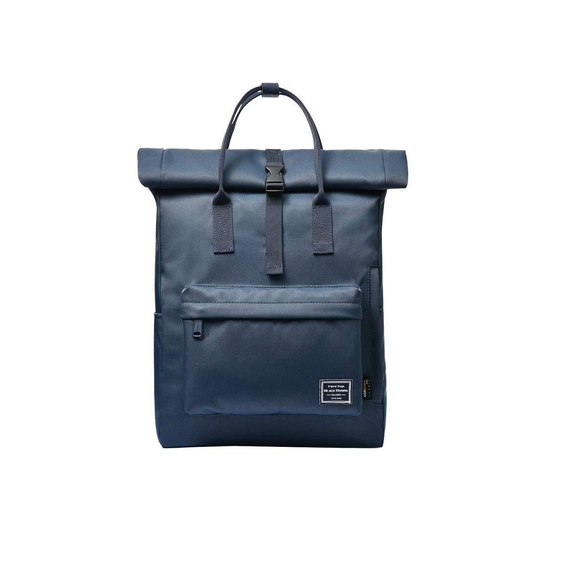 4 M KUQIQI Solid color School Bag, Male And Female College Backpack Waterproof Travel Backpack Practical school bag